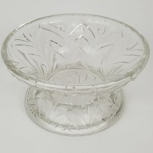 Vintage Heavy Glass Candy Dish- No Markings